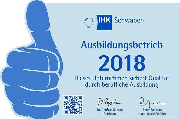 IHK - 2018 Ausbildungsbetrieb